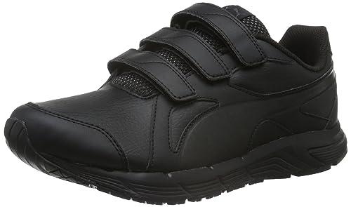 Puma 189133 - Zapatillas de Material Sintético Unisex Infantil, Color Negro, Talla 37.5 EU