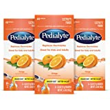 Pedialyte Electrolyte Powder, Electrolyte Drink, Orange, Powder Sticks, 0.6 oz, 18 Count