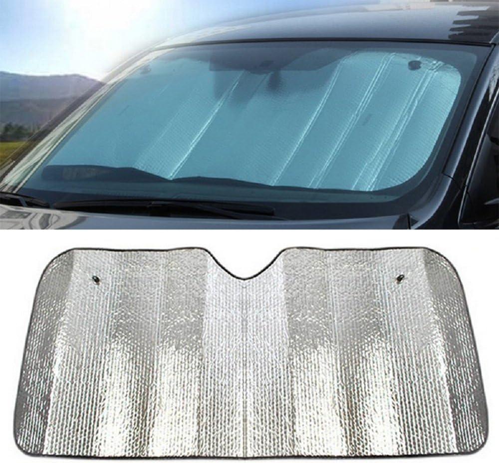 Chytaii Parasole per auto colore: argento alluminio sottile su due lati/per bloccare i raggi ultravioletti