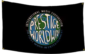 POZOY Prestige Worldwide Flag 3x5 Ft Heavyweight Thick Fabric International Music Corporation Double Stitched Man Cave Wall Decor Funny Poster for College Dorm Room, Parties, Gift