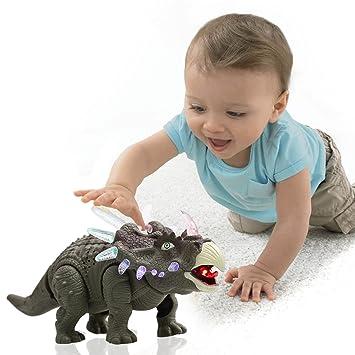 Smibie Triceratops Dinosaurio Juguetes Electronicos Modelo De