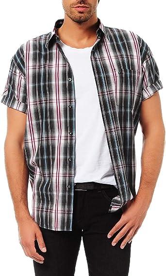 Lee Camisa de cuadros para hombre, color negro: Amazon.es: Ropa