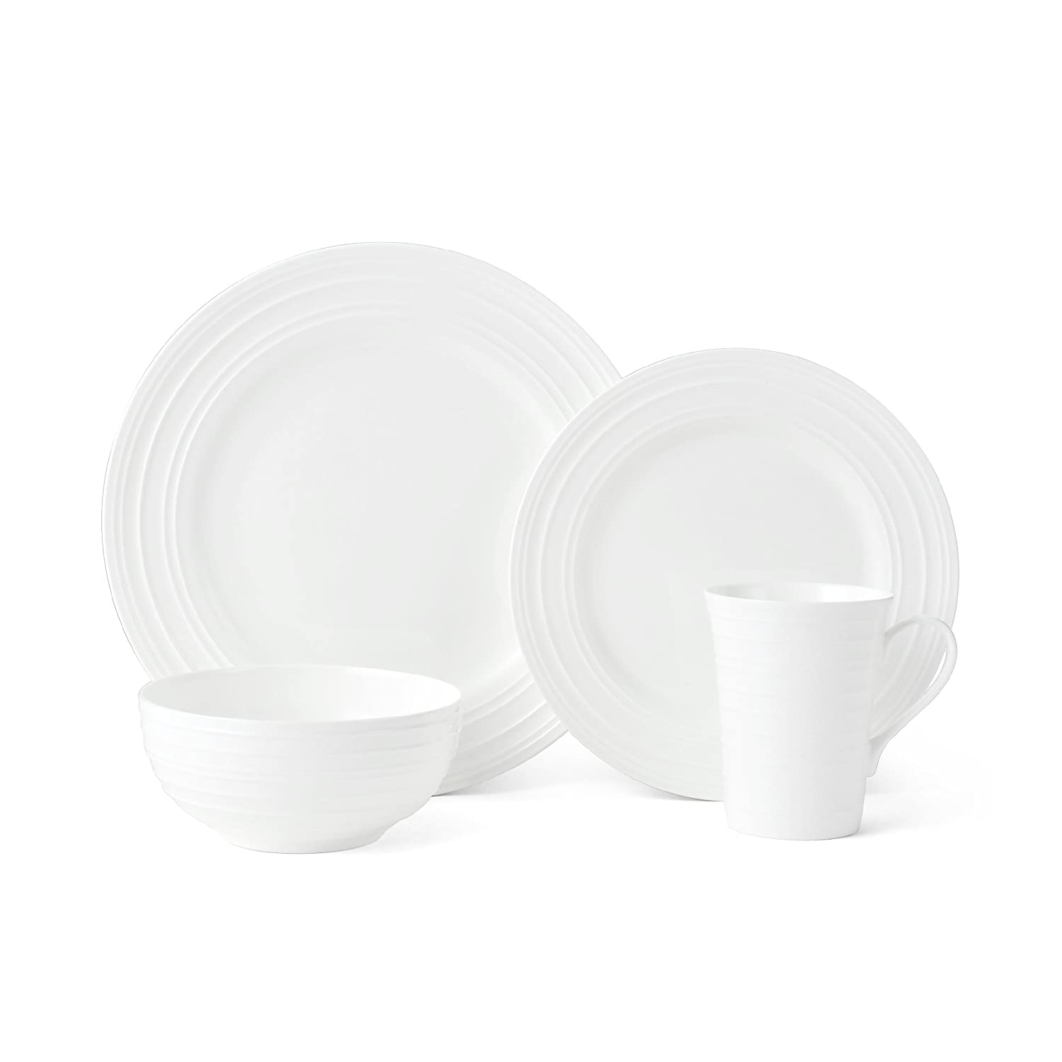 Mikasa 5224193 Ciara 16-Piece Dinnerware Set, Service for 4