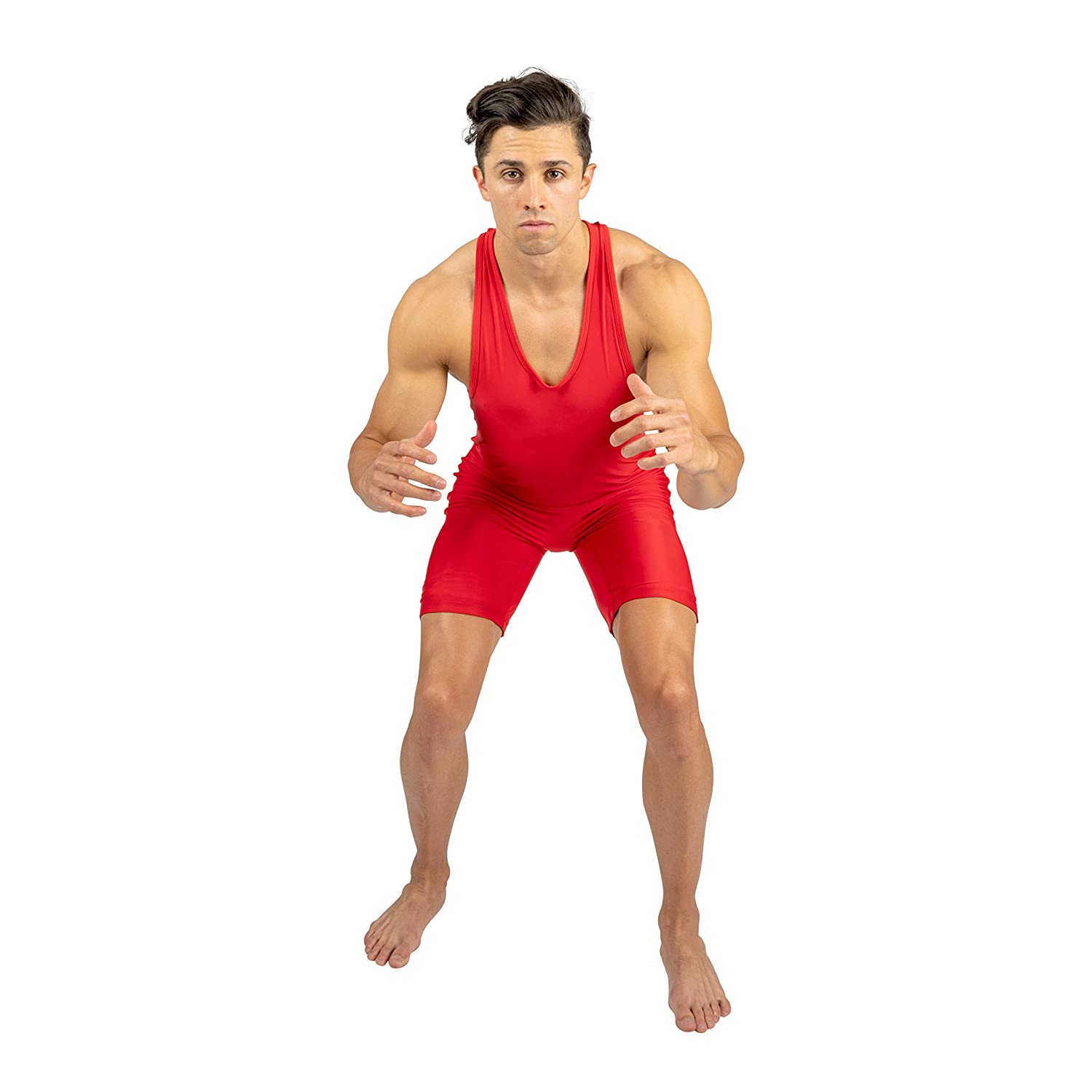 Red Wrestling Singlet size M 4-Time All American