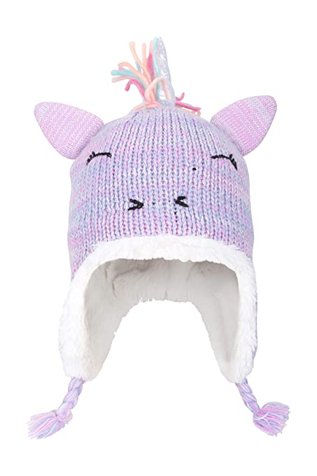ICOSY Winter Kids Warm Unicorn Hat Knitted Scarf Beanies Animal Cap Party Gift