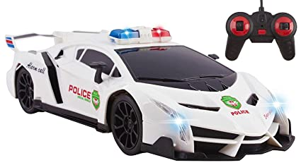 Amazon Com Police Rc Car Toy Super Exotic Large Remote Control