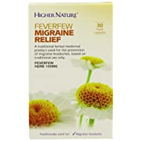 Higher Nature Feverfew Migraine Relief - Pack of 30 Capsules