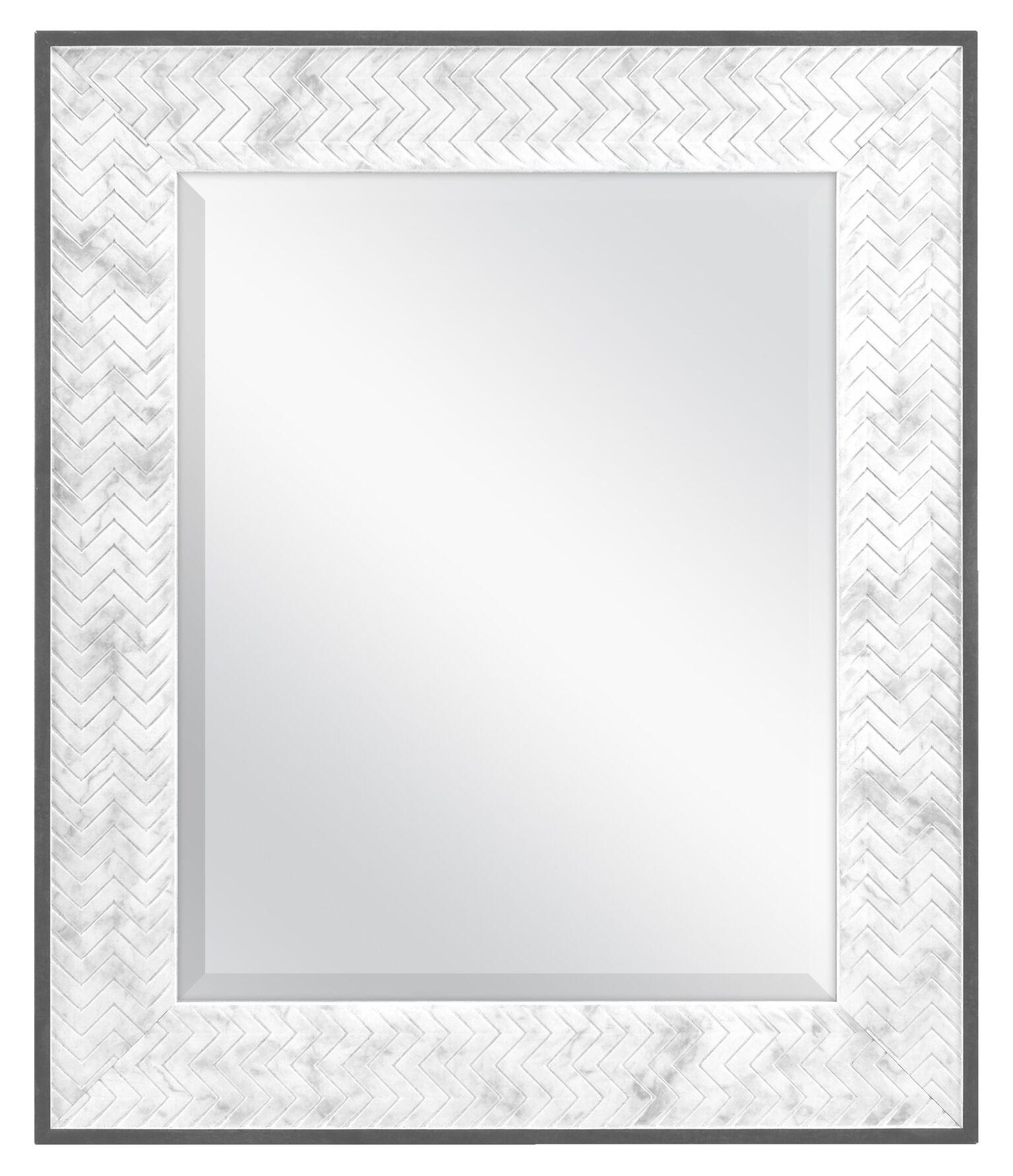 MCS 16x20 Inch Chevron, 22x26 Overall Size, Marble (66944) Mirror, 22 x 26 Inch,