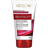 L'Oreal Paris Revitalift Makeup-Removing Cleansing Cream Face Cleanser & Toner, with Vitamin C, 150 mL