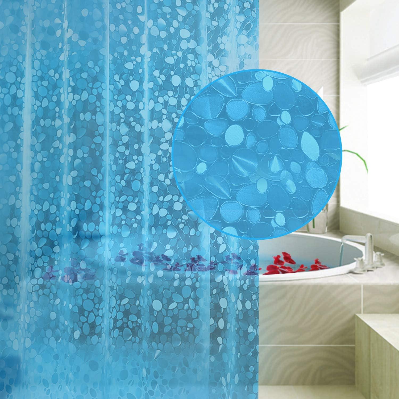 Duschvorhang 180x180cm wasserdicht mit 12 Haken antibakteriell Badezimmer EVA