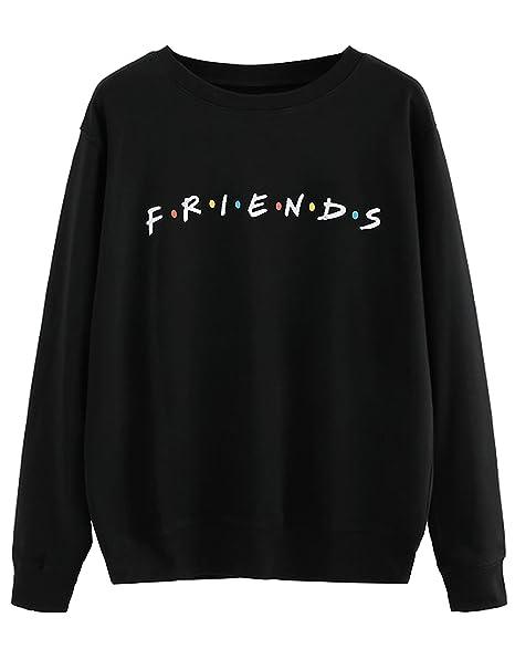 MISSACTIVER Women s Sweatshirt Letter Print Lightweight Pullover Top ... 5917a3cda0
