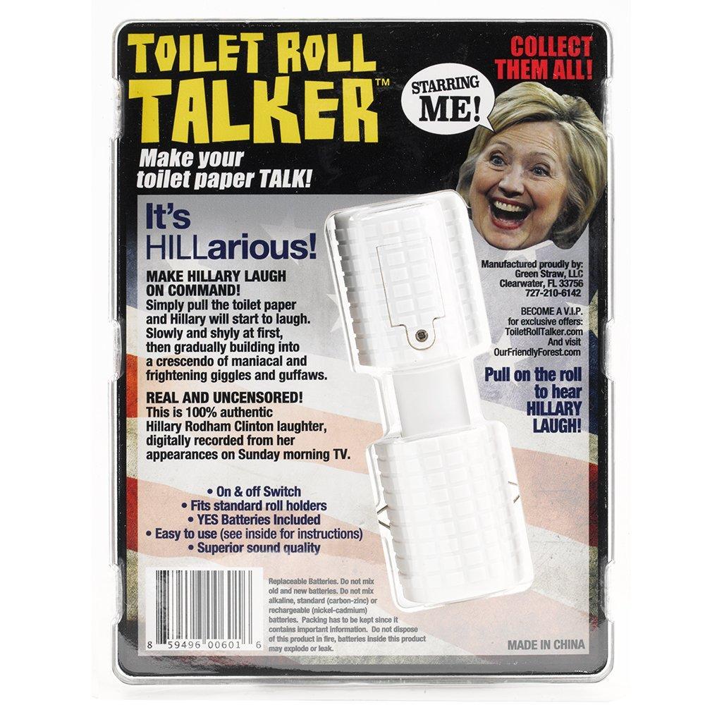 Hillary Clinton Toilet Roll Talker - Makes Regular Toilet Paper ...