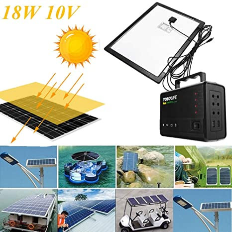 DAXINYANG Luz LED Cargador USB 18W Panel Solar Generador de ...