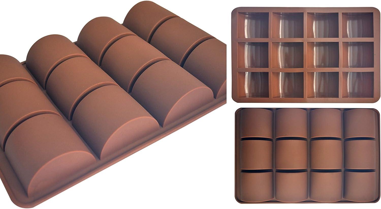 ADS Silicone Brownie Mold - Sweet & Savory Food Pockets - 12 Cavities - Minimal Design