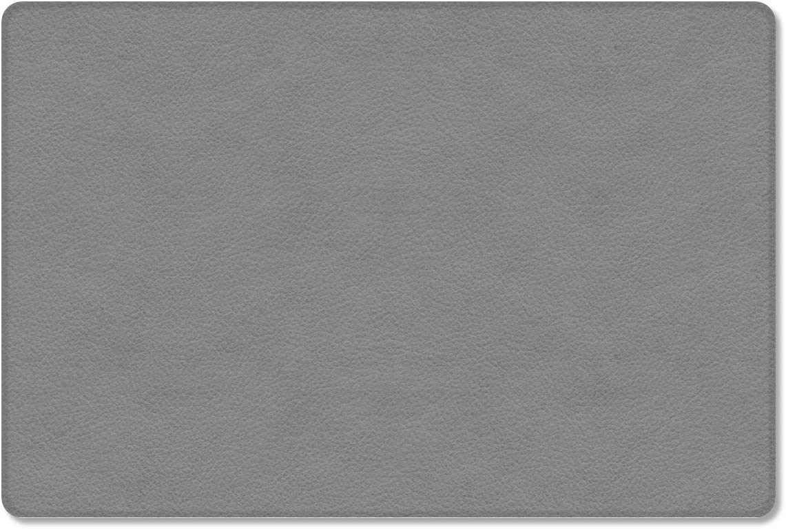Gsypo Cushioned Anti Fatigue Kitchen Mat, Grey Lightweight Cozy Faux Leather Doormat All-Season Floor Mat Standing Mats- 24