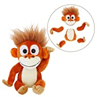 "Animoodles Magnetic Randy Orangutan Stuffed Animal Plush - 7.5"""