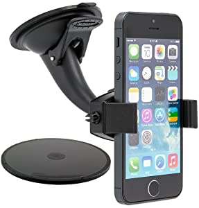 Arkon Windshield Dash Sticky Suction Phone Car Mount for iPhone 7 6S 6 Plus 7 6S 6 Galaxy S7 S6 Retail Black