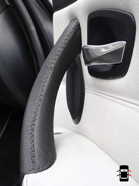 Spurtar Auto-Innent/ürgriff-Abdeckung Mikro-Leder E90 E91 325 330 318 Left /& Light schwarz T/ürverkleidung f/ür BMW Serie 3 2005/–2012 Handn/ähen