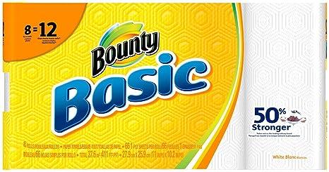Bounty Basic rollo de toallas de papel de gigante, 8 ct