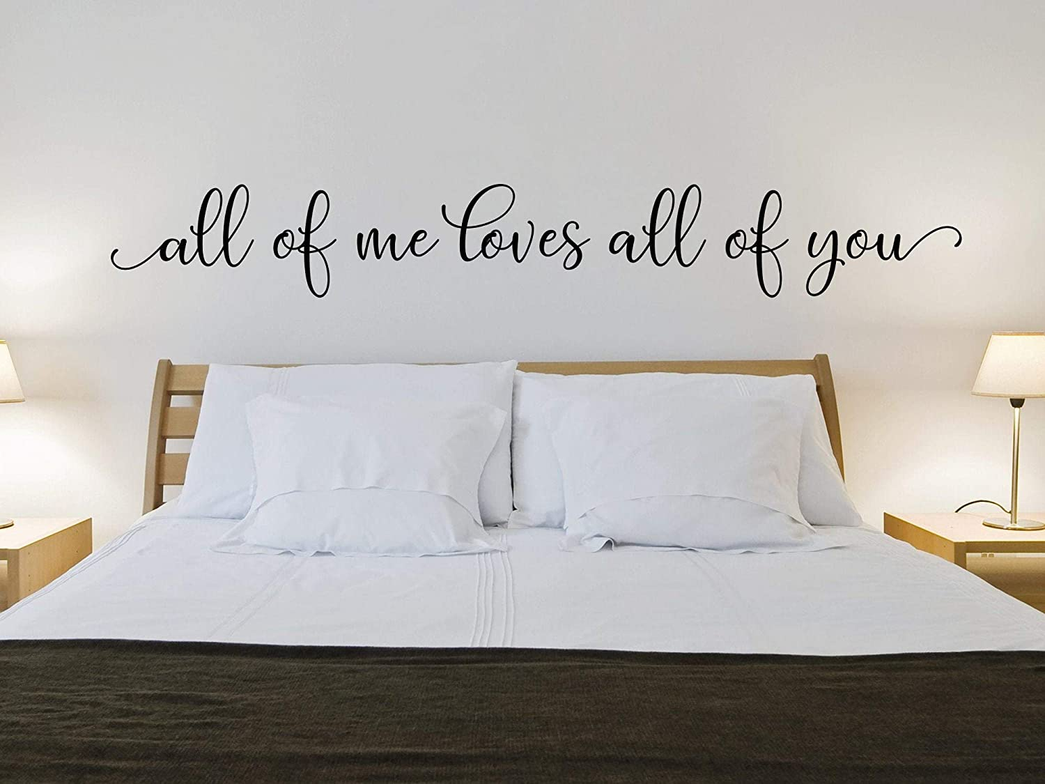 Amazon Com Ke10nce All Of Me Loves You Wall Decal Master Bedroom Romantic Quote Home Kitchen