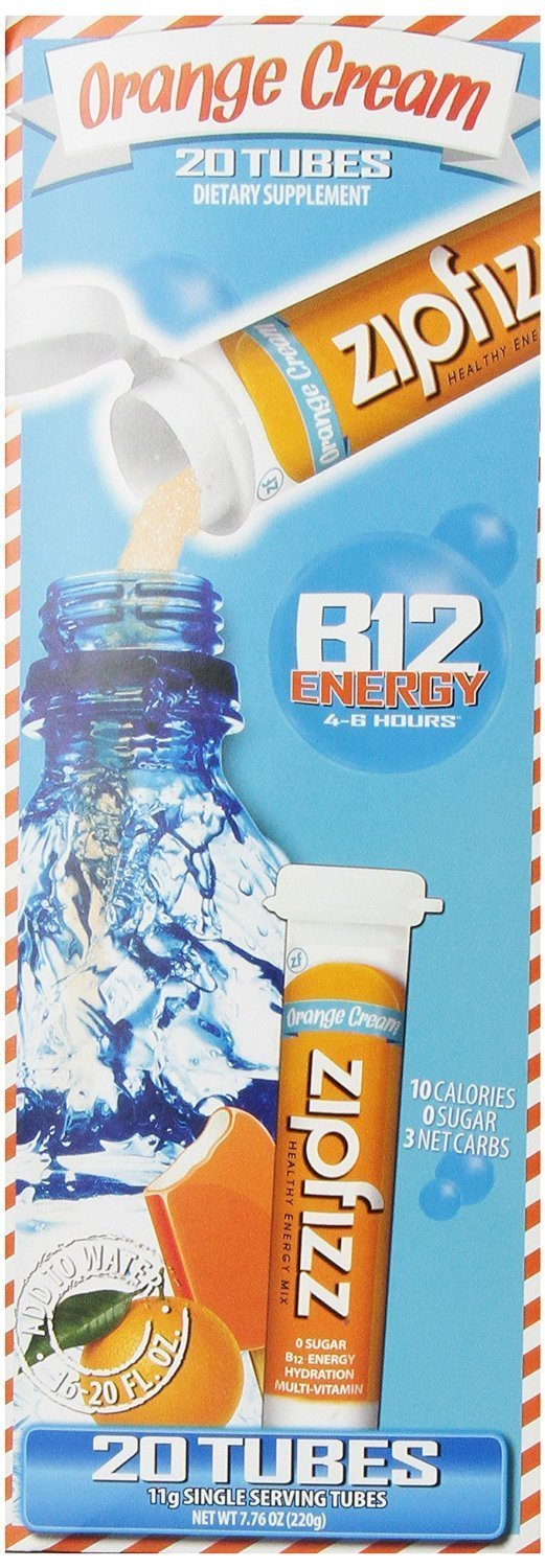 Zipfizz Healthy Energy Drink Mix, Orange Cream (Orange Cream, 60-count)