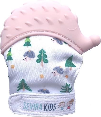 Moufle de dentition en silicone alimentaire Sevira Kids H/érisson