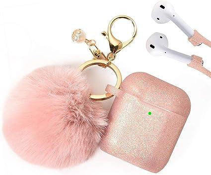 Amazon Com Airpods Case Filoto Airpods Silicone Glitter Cute