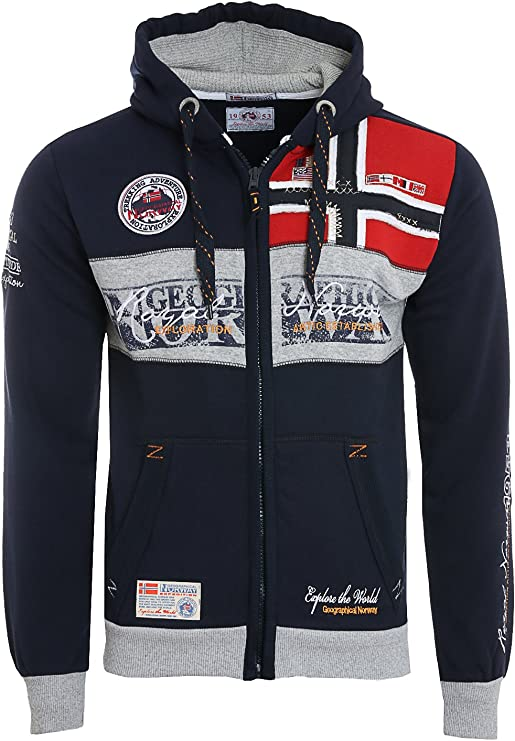 TALLA S. Geographical Norway Flyer Men 100 - Capucha Hombre