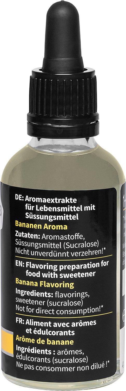 nu3 Fit Drops - Gotas aromáticas 50ml - Aroma líquido sabor plátano - Alternativa sin calorías, sin azúcar y sin gelatina | Ideal para combinar con batidos ...