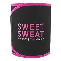 Sports Research Sweet Sweat Premium Waist Trimmer (Pink Logo) for Men & Women ~...