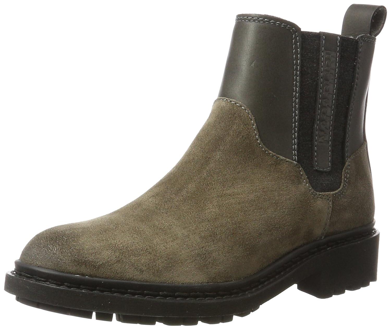 NAPAPIJRI Footwear Reese, Botas Plisadas para Mujer40 EU|Beige (Iron Grey N82)