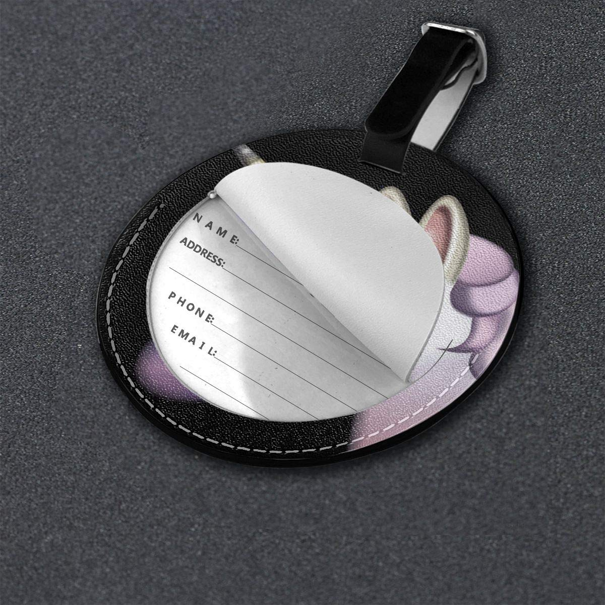 Free-2 Unicorn/_Emoji Grande Luggage Tag 3D Print Leather Travel Bag ID Card