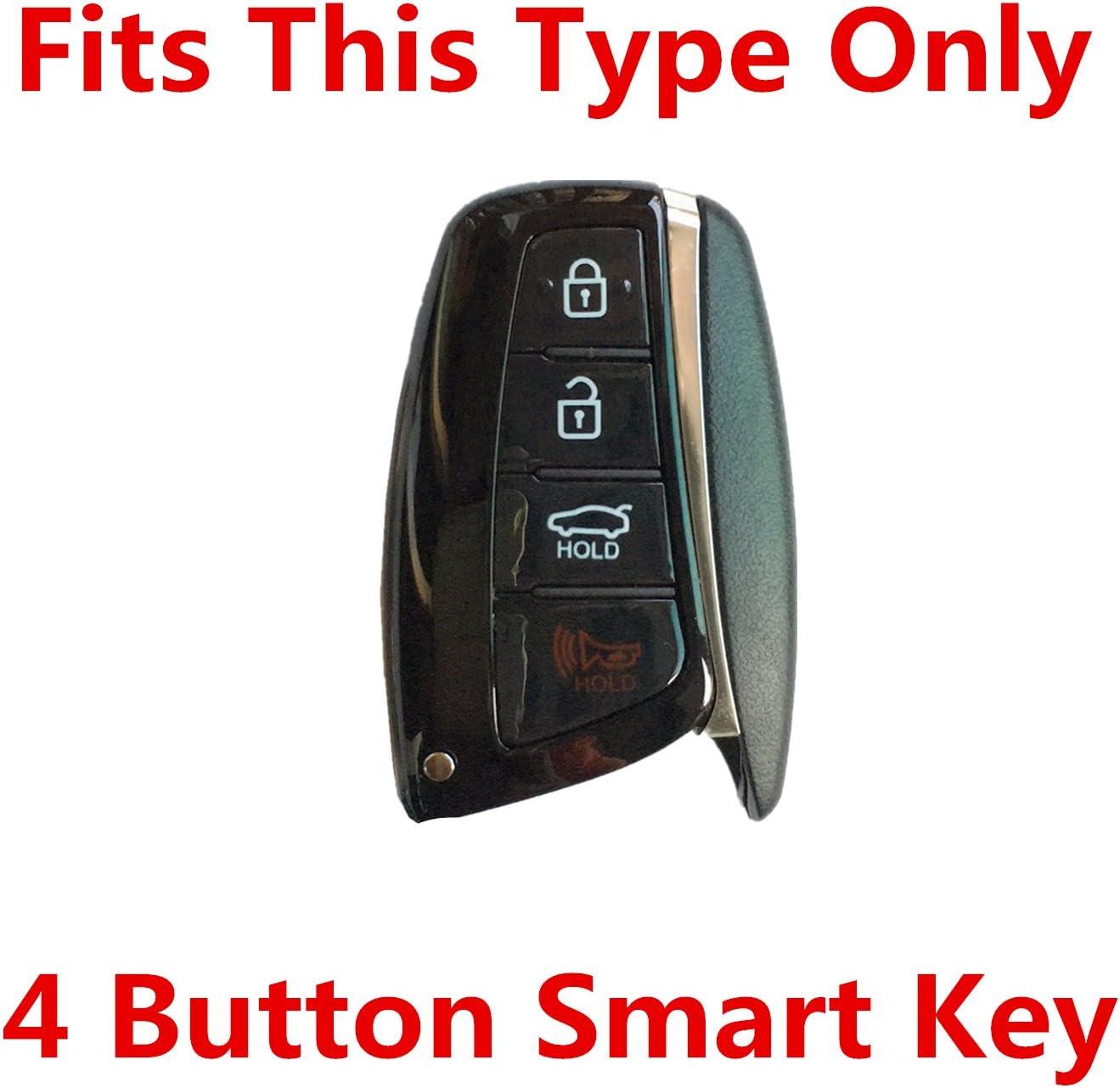 Rpkey Silicone Keyless Entry Remote Control Key Fob Cover Case protector For 2015 2016 Hyundai Genesis 2013 2014 2015 Santa Fe 2014 2015 Equus 2015 Azera SY5DMFNA433 SY5DMFNA04 95440-4Z200