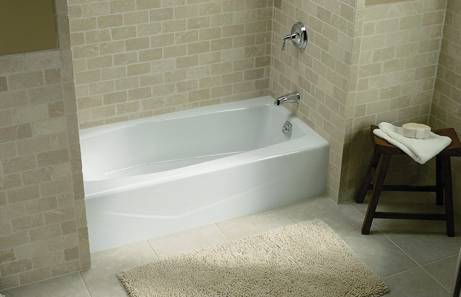 KOHLER K-716-0 Villager Bath with Right-Hand Drain, White ...