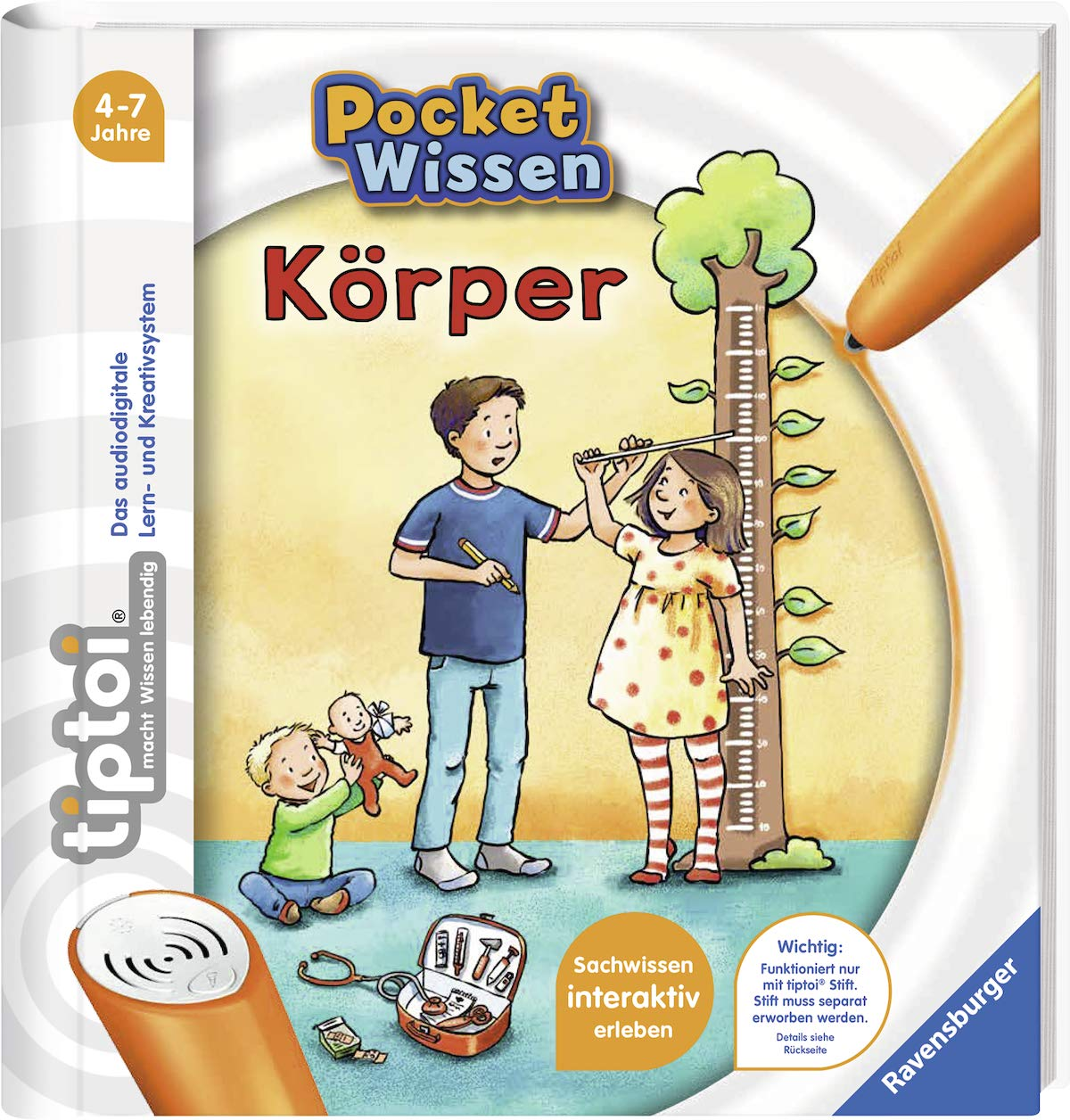 tiptoi® Körper (tiptoi® Pocket Wissen) Spiralbindung – 1. April 2019 Johanna Prinz Katharina Wieker Ravensburger Buchverlag 3473554200