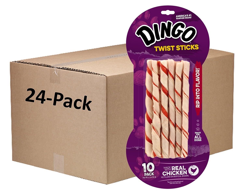 Dingo Chicken Twist Sticks Chews For Dogs, 240 Ct