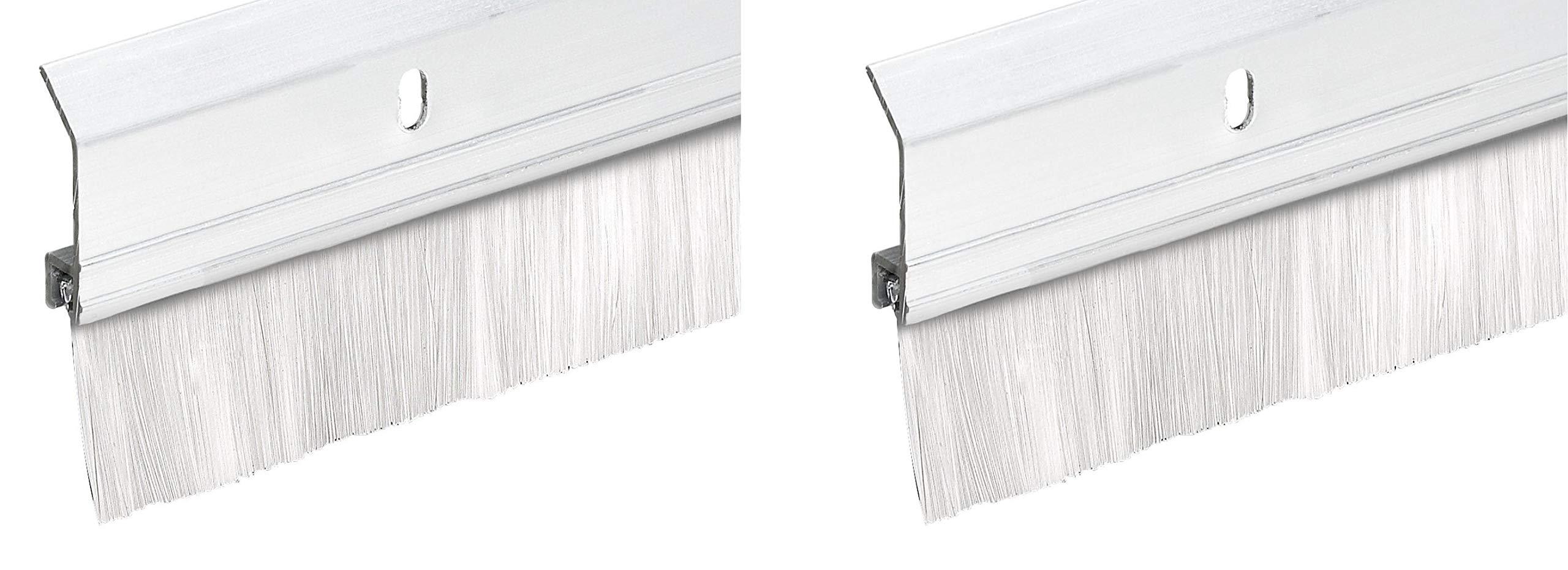 Frost King SB36W 2'' x 36'' Extra Aluminum/Brush Door Sweep, White (Twо Pаck, White)