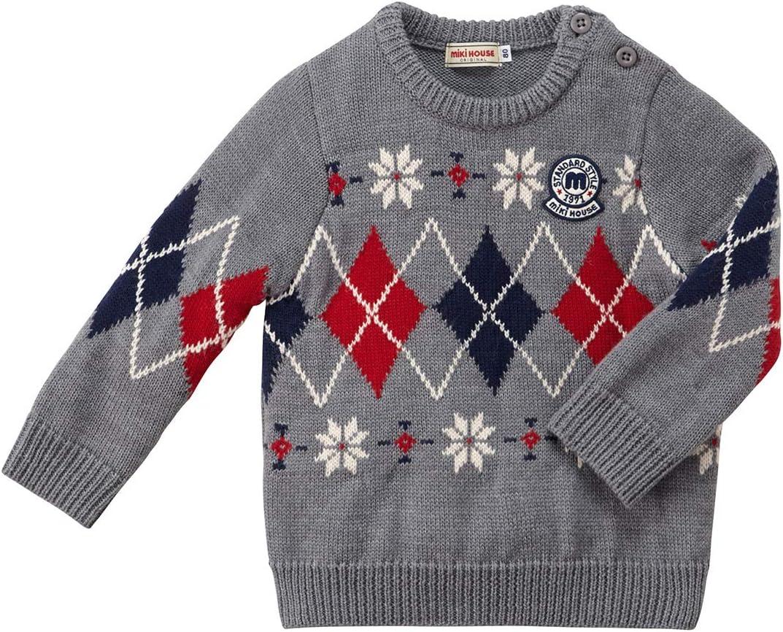 ミキハウス (MIKIHOUSE) セーター 13-6604-455 130cm グレー