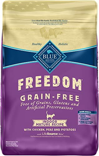 Blue Buffalo Blue Freedom Grain-Free Mature Indoor Chicken Recipe Dry Cat Food