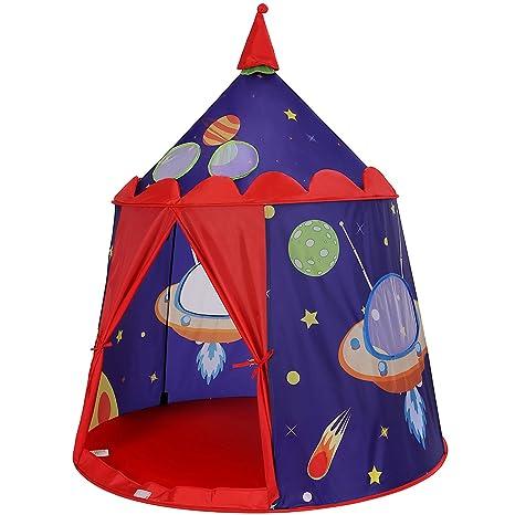 Songmics Tenda Da Gioco Castello Con Astronavi Per Ragazzi E Bambini
