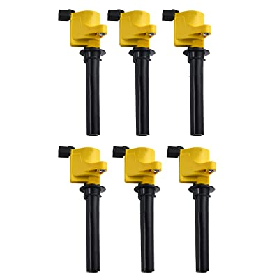 ENA Heavy Duty Ignition Coil 6 Pack compatible with 01-08 Ford Escape Five Hundred Freestyle Taurus - Mazda Tribute - Mercury Mariner Montego Sable 3.0L V6: Automotive