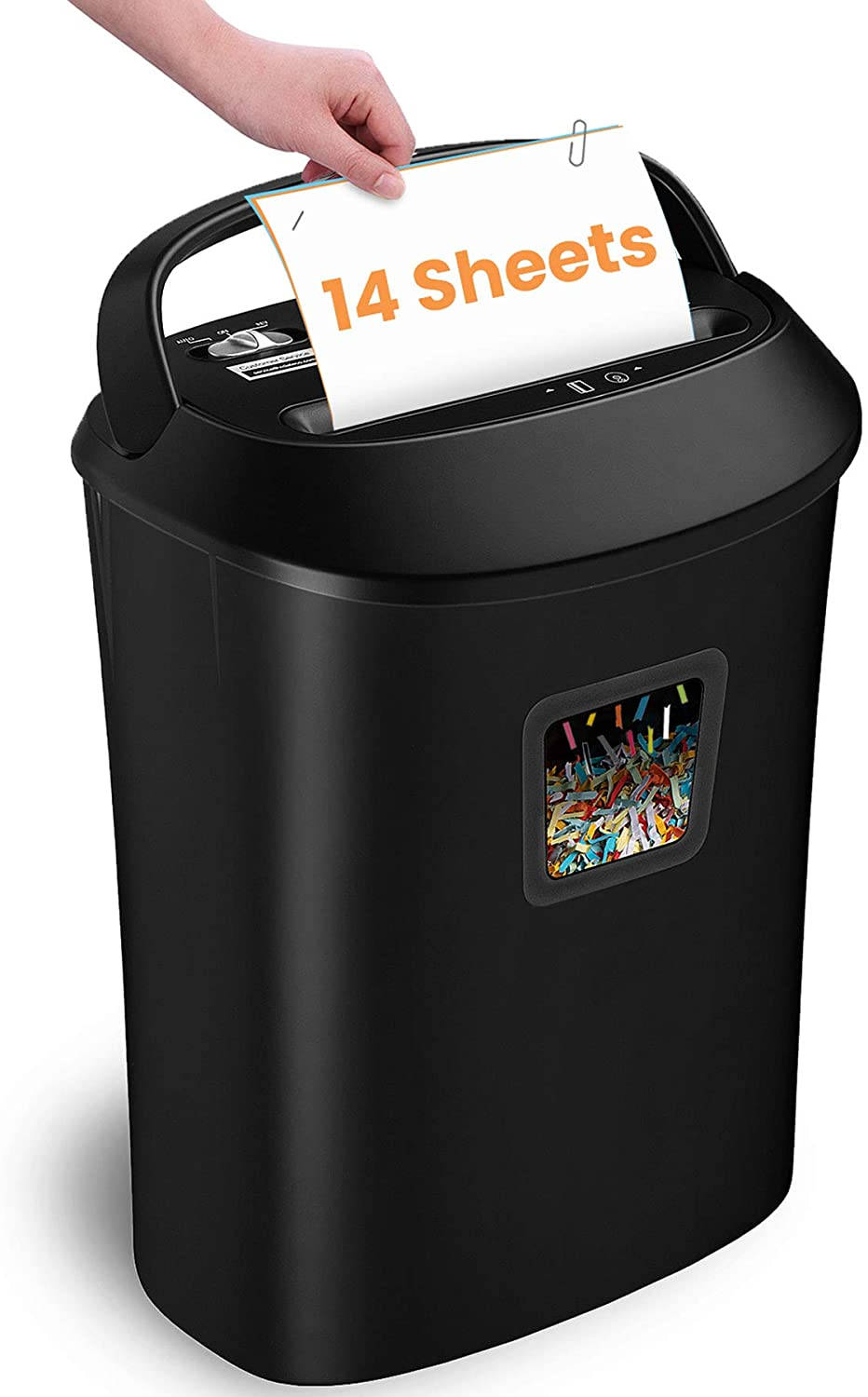 Paper Shredder, VidaTeco 14-Sheet Cross-Cut Shredder with US Patented Cutter, Also Shreds Card/CD, Heavy Duty Paper Shredder for Home Office, Durable&Fast with Jam Proof System, 6.6-Gallon Basket(ETL)