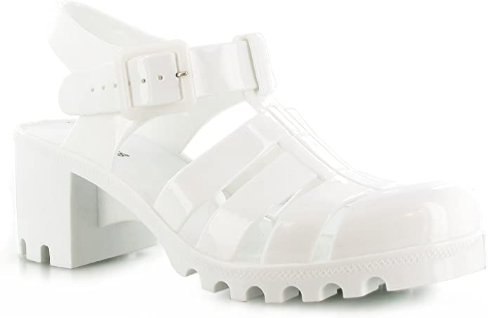 H3042 Various Sizes *SALE!* Girls Heeled Jelly Sandals 3 Colour