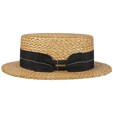 e13692b5d35414 Stetson Vintage Boater Straw Hat Sun Beach (XL (60-61 cm) - Nature):  Amazon.co.uk: Clothing