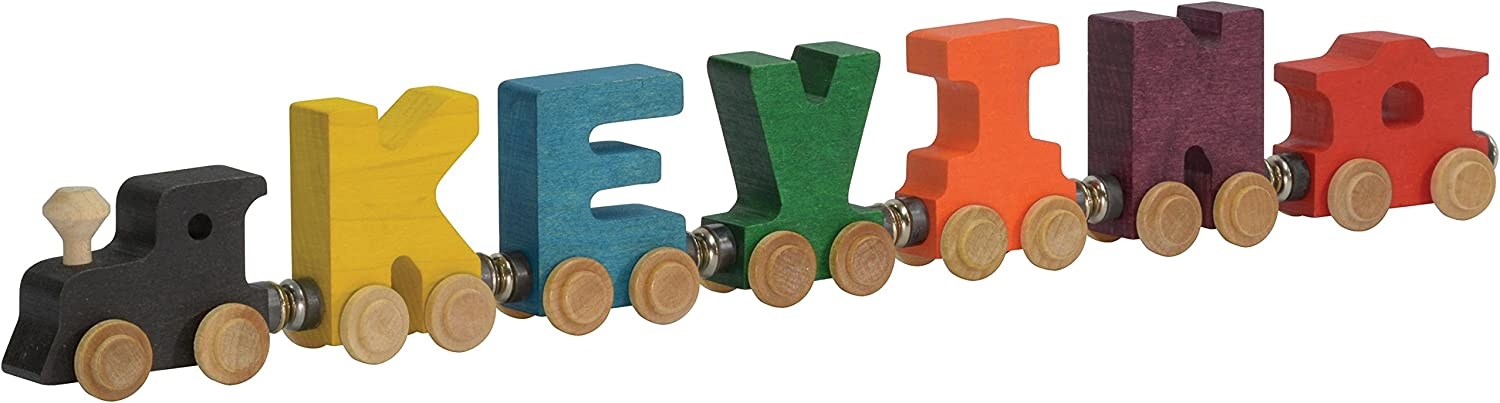 Handcrafted Wood Toy Letter Train 3  Letter Name unfinished or finished