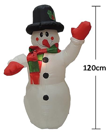 SZ Hinchable Muñeco de nieve 120CM: Amazon.es: Hogar