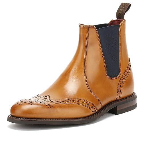 01f7e550c92 Loake Hoskins Mens Brogue Chelsea Boots