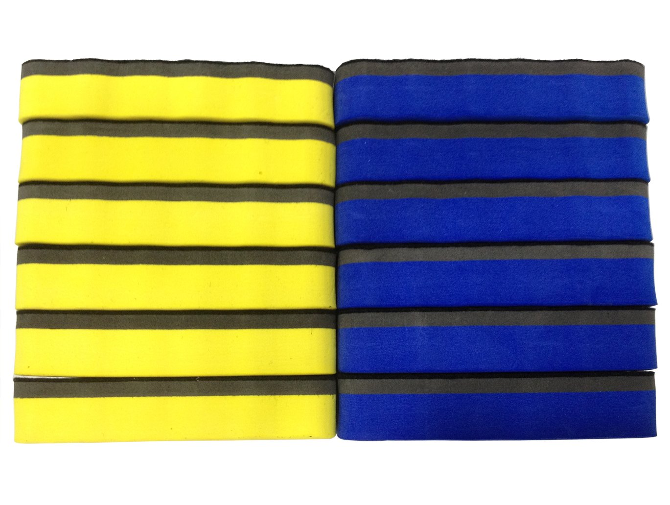 Attmu Magnetic Whiteboard Dry Erasers, 12 Pack - 6 Blue and 6 Yellow, 2.2 x 4 Inches Each by Attmu (Image #4)