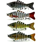 Apusale Fishing Lure Hard Bait Bass For 7 Segment Trout Swimbait Life-Like Swimming As Life Fish