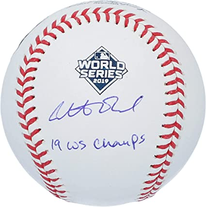 Juan Soto Washington Nationals Autographed 2019 World Series Champions New Era Baseball Cap Fanatics Authentic Certified